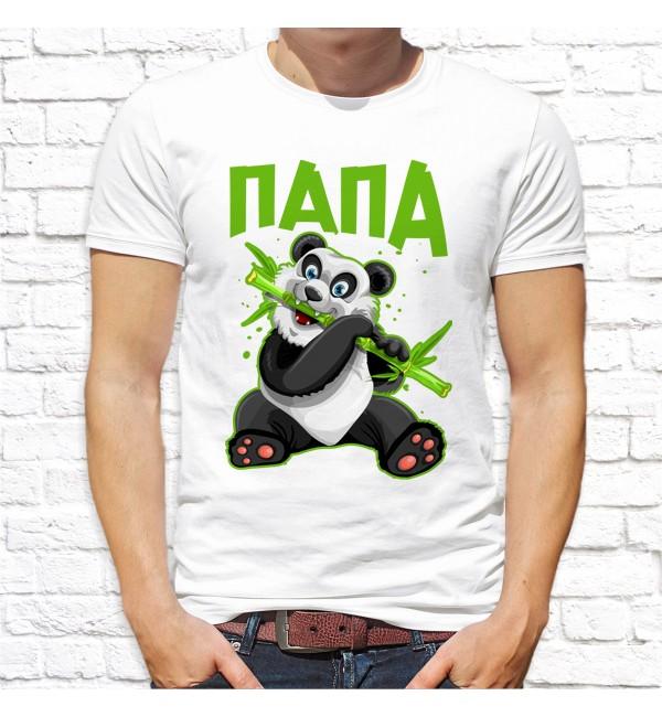 Мужская футболка Папа панда