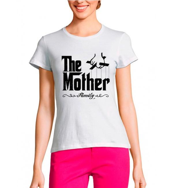 Женская футболка Мама гангстер