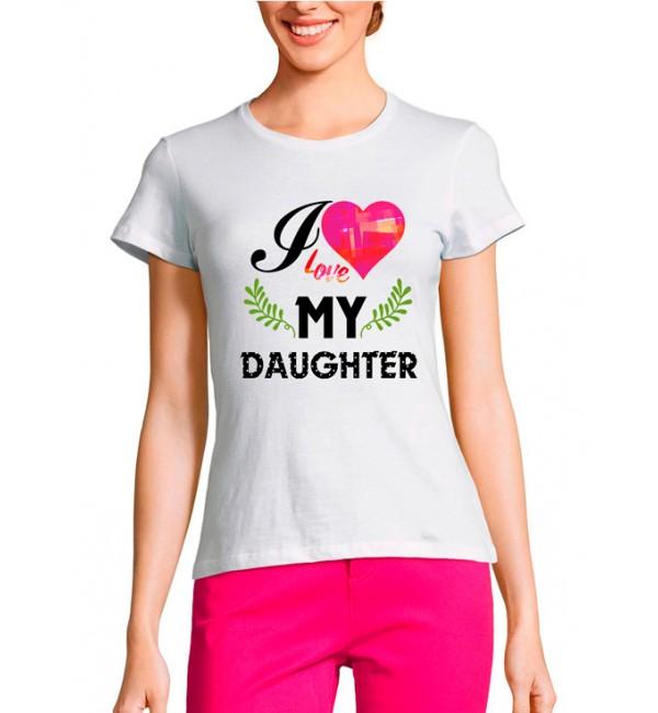Женская футболка Я люблю Дочь