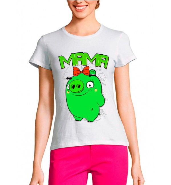 Женская футболка Мама Bad Piggies