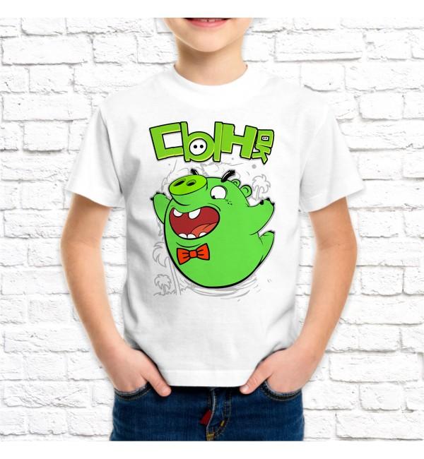Детская футболка Сын Bad Piggies