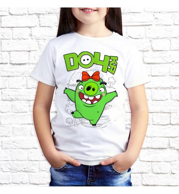 Детская футболка Дочь Bad Piggies