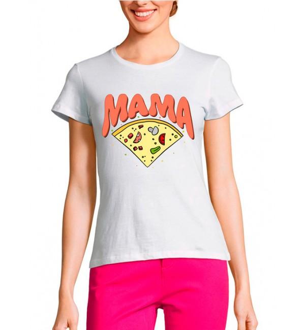 Женская футболка Мама пицца