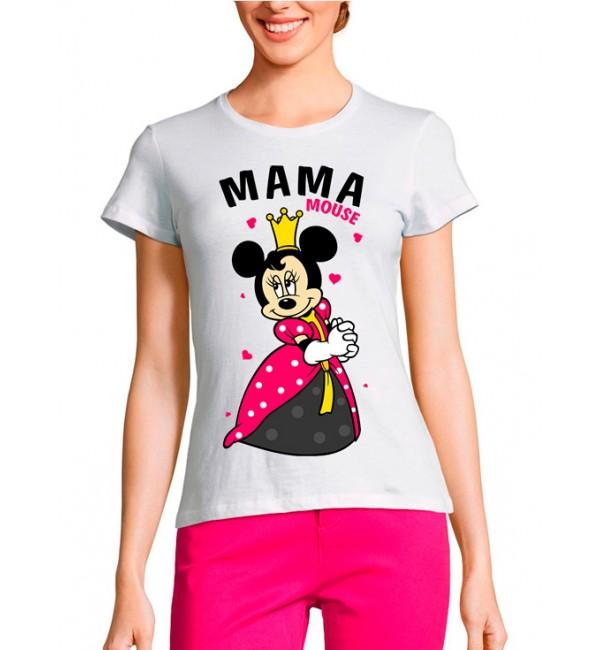 Женская футболка Мама mouse