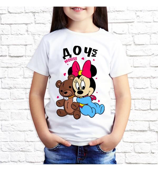 Детская футболка Дочка mouse