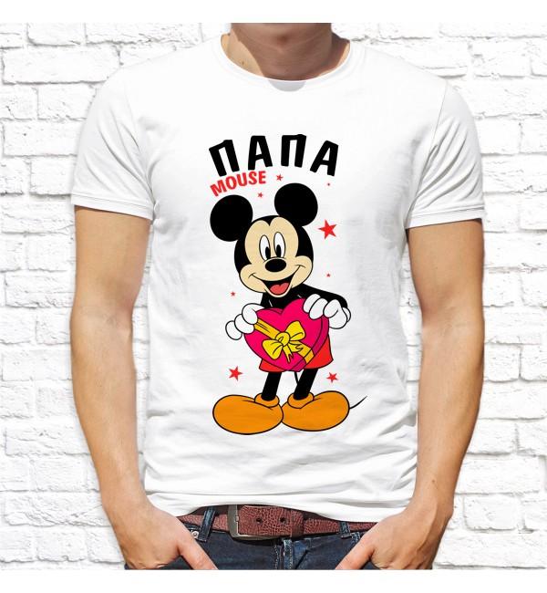 Мужская футболка Папа mouse