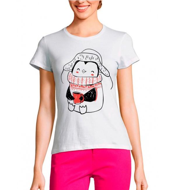 Женская футболка Пингвин мама