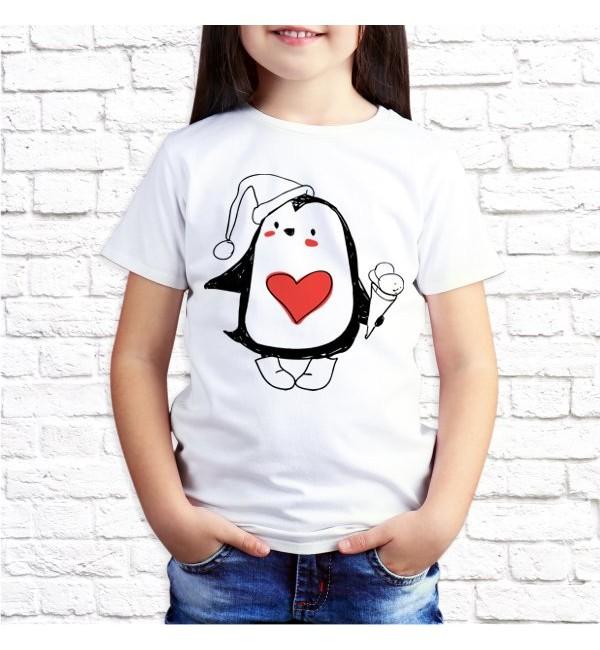 Детская футболка Пингвин дочь