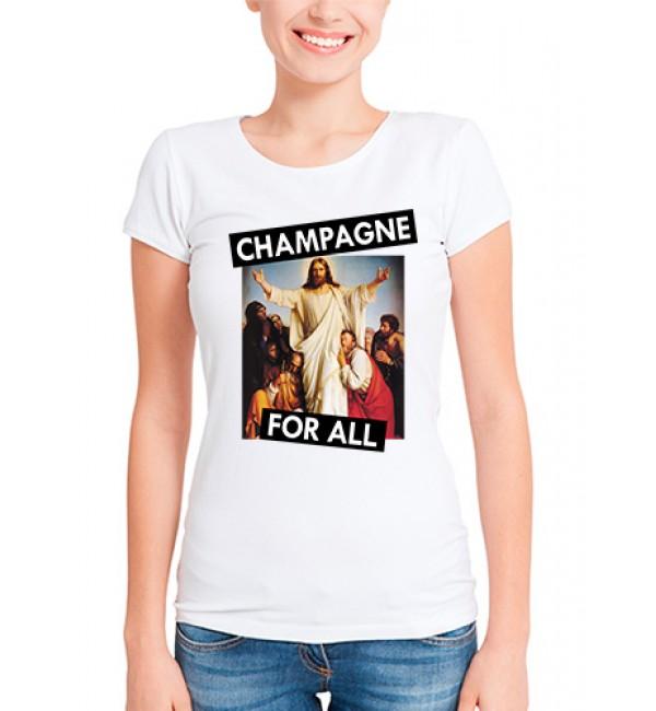 Футболка в стиле тумблер Champagne for all