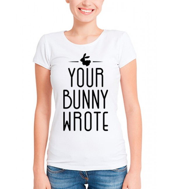 Футболка в стиле тумблер Your bunny wrote