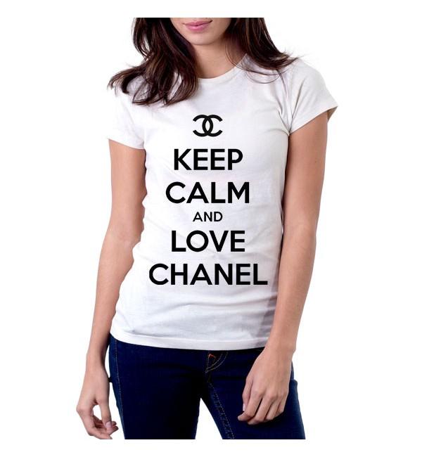 Футболка Keep calm & love Chanel