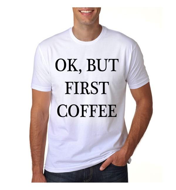Футболка OK, but first coffee