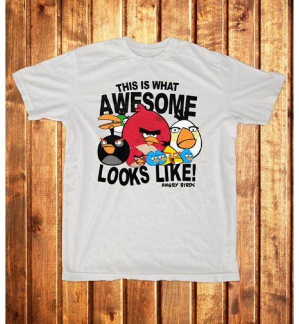 Футболка мужская  Angry Birds 4