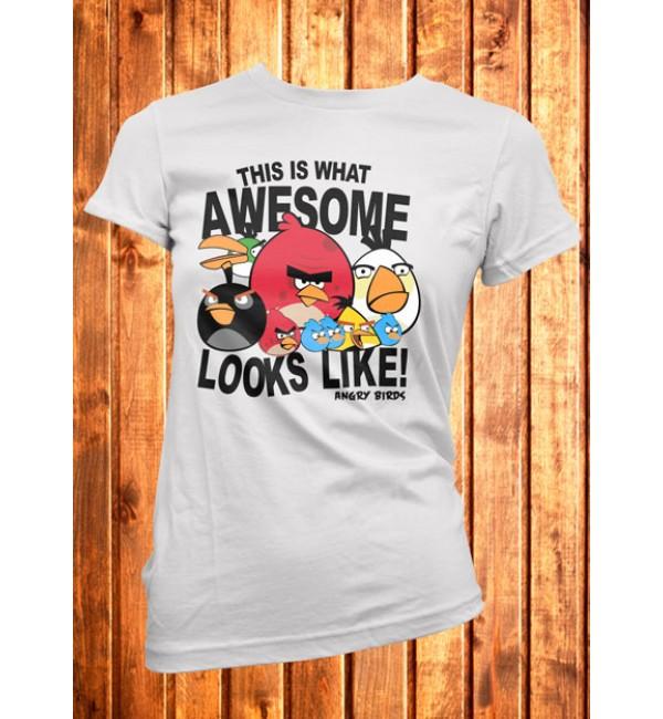 Футболка женская  Angry Birds 4