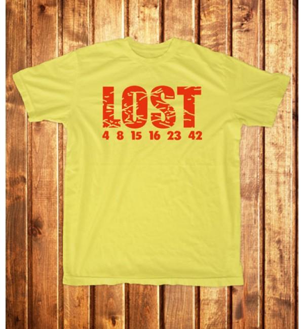 Футболка мужская  Lost, числа