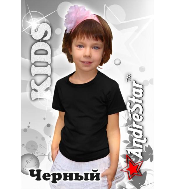 Черная детская футболка