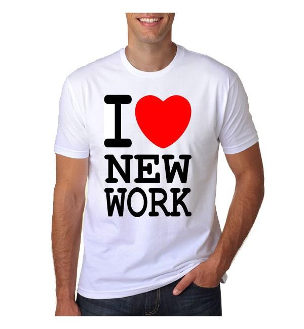 Мужская футболка  Я люблю новую работу