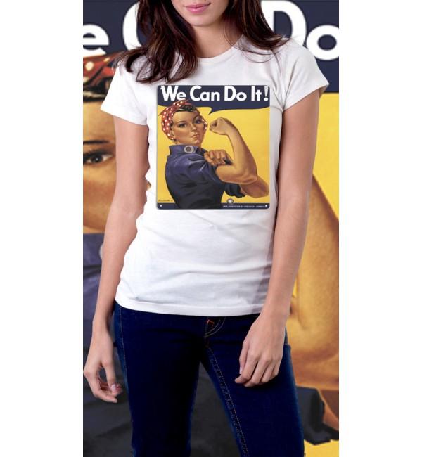 Женская футболка We can do it